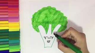 Sevimli Brokoli Nasıl Çizilir ? How To Draw Cute Broccoli?