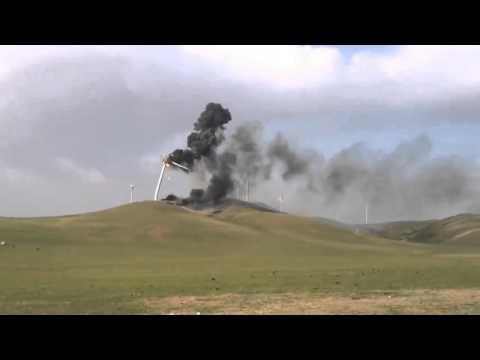 Windfarm turbine fire