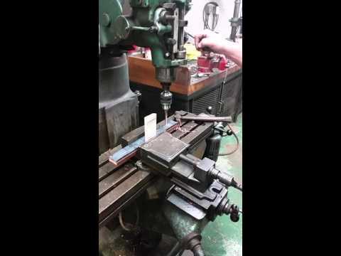 Drill press drilling copper