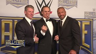 The 2016 WWE Hall of Fame Class receive their rings from Mr. McMahon & Triple H