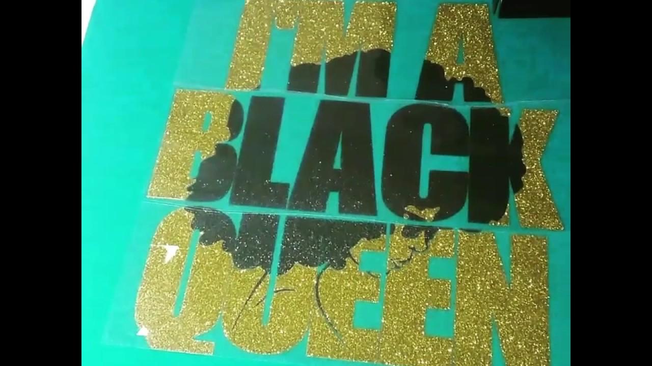 Black Queen Shirt Custom Birthday Tee Glitter Vinyl With Design Wedding
