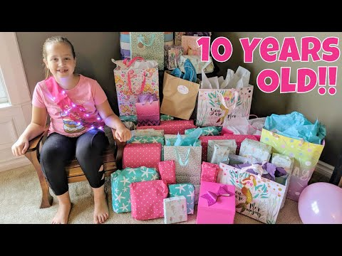 Leah's 10th Birthday Opening Presents!!