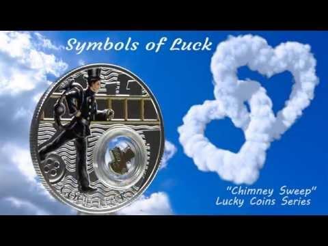 "1 Dollar Silver coin - ""Chimney Sweep"" - Good Luck Series - Niue Island 2014"