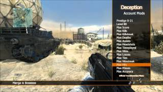[XBOX/MW3/TU23] Deception Non Host Engine Text Menu By Manga + DL