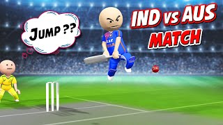 3D ANIM COMEDY - CRICKET INDIA VS AUSTRALIA ODI || LAST OVER || DESI COMEDY