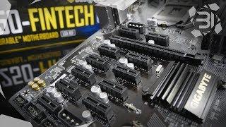 Gigabyte B250-Fintech 12-GPU Mining Motherboard Review