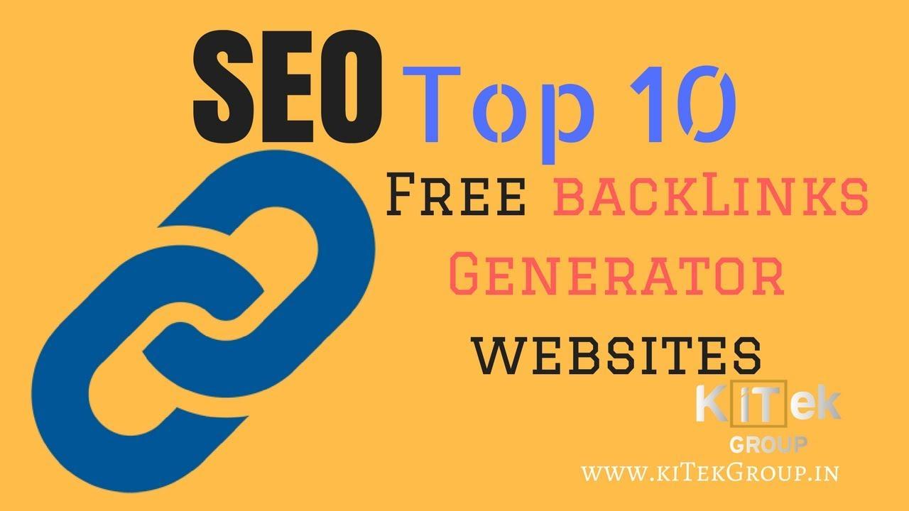 Top 10 Free backlink Generator websites | free Backlinks