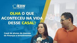 Comentário Alunos Juliane e Michel Curso de Formação em finanças e Investimentos IEBW Curitiba.