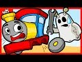 Igo The Friendly Ghost Repairs Toy Trains For Children | Kids Video Cartoon