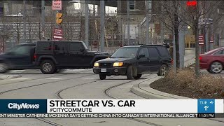 Driver confusion at Distillery District intersection