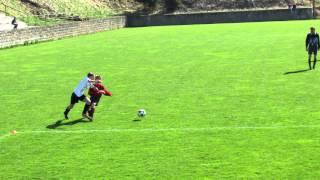 Horní Planá - Chvalšiny 6-5, žáci 2014-15 (gól Romana Šáry)