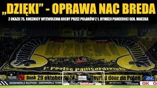 Oprawa NAC Breda z okazji 75. rocznicy wyzwolenia Bredy przez Polaków z 1. Dywizji Pancernej