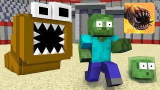 Monster School : DEATH WORM CHALLENGE + BRAVE - Minecraft Animation