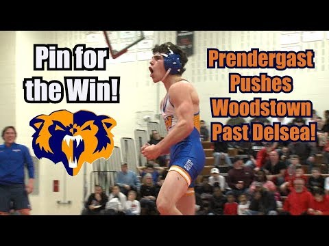Woodstown 36 Delsea 31   Tri-County Conference Wrestling   Lucas Prendergast Pins To Win