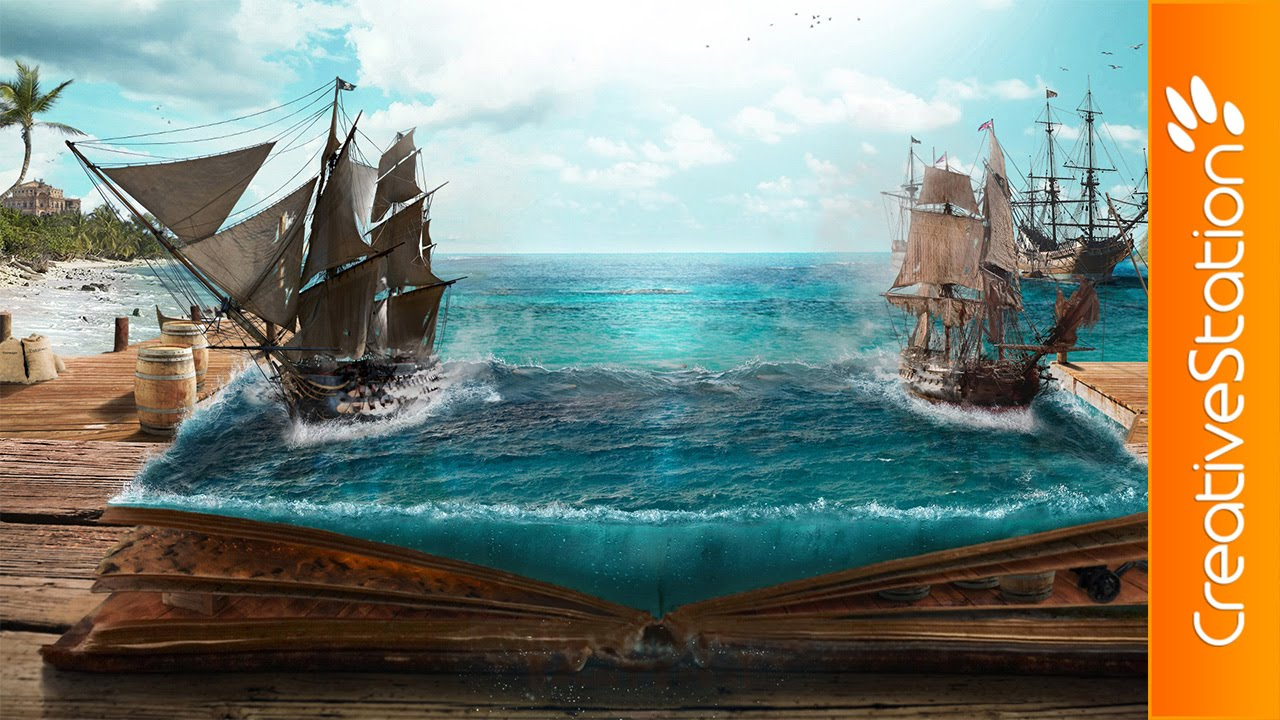 Cute Lonely Girl Hd Wallpaper Legends Of The Pirates Speed Art Photoshop