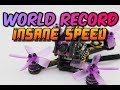 WORLD RECORD WORLDS FASTEST MICRO DRONE 126 Eachine Lizard95 review