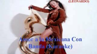 thalia - amor a la mexicana con banda (karaoke)
