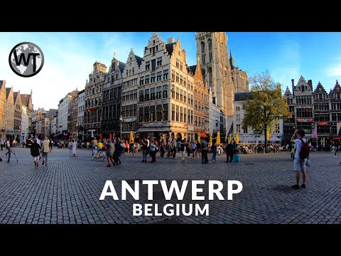 Antwerp Exploring City Centre Walking Tour〚𝟒𝐊〛🇧🇪 Belgium