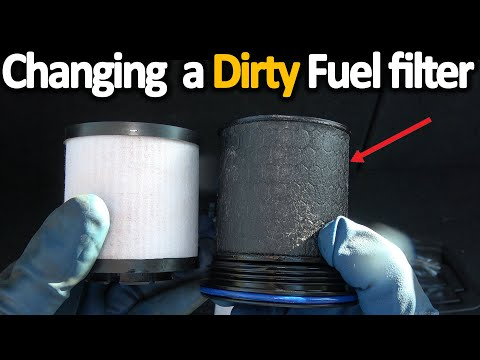 How to Replace a fuel filter + How to Remove water from fuel ( EASY)