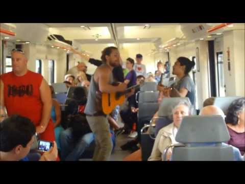 Train Road from Blanes to Barcelona - Spain 2015 [HD]