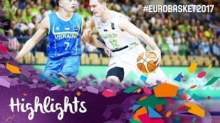 Slovenia v Ukraine - Highlights - FIBA EuroBasket 2017 Qualifiers