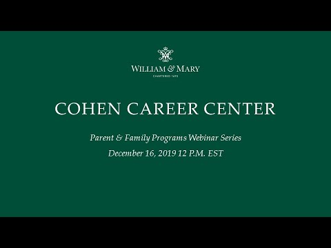 Cohen Career Center Webinar