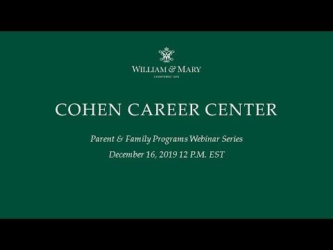 Cohen Career Center Webinar