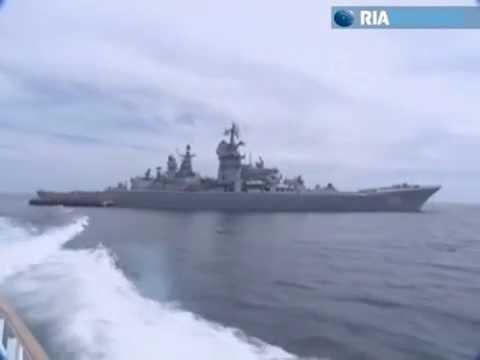 Các chiến hạm Nga tập trận trên biển Nhật Bản