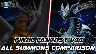 FINAL FANTASY VII REMAKE - ALL SUMMONS COMPARISON - ORIGINAL VS REMAKE