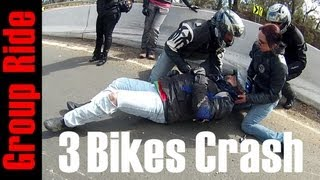 3 Bikes Crash on Group Ride - Sydneys Riders