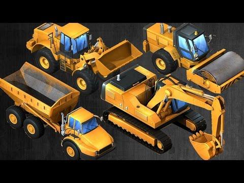 เกมส์ แม็คโคร แม็คโครตักดิน แบคโฮ รถดั้ม 6ล้อ รถบรรทุก รถก่อสร้าง วีดีโอสำหรับเด็ก Excavator Kids