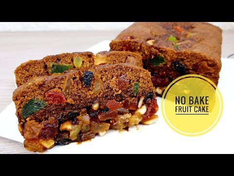 No Bake Fruit Cake | Easy Fruit Cake Recipe (Christmas Cake)