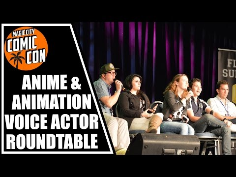 Anime and Animation Voice Actor Roundtable at Magic City Com