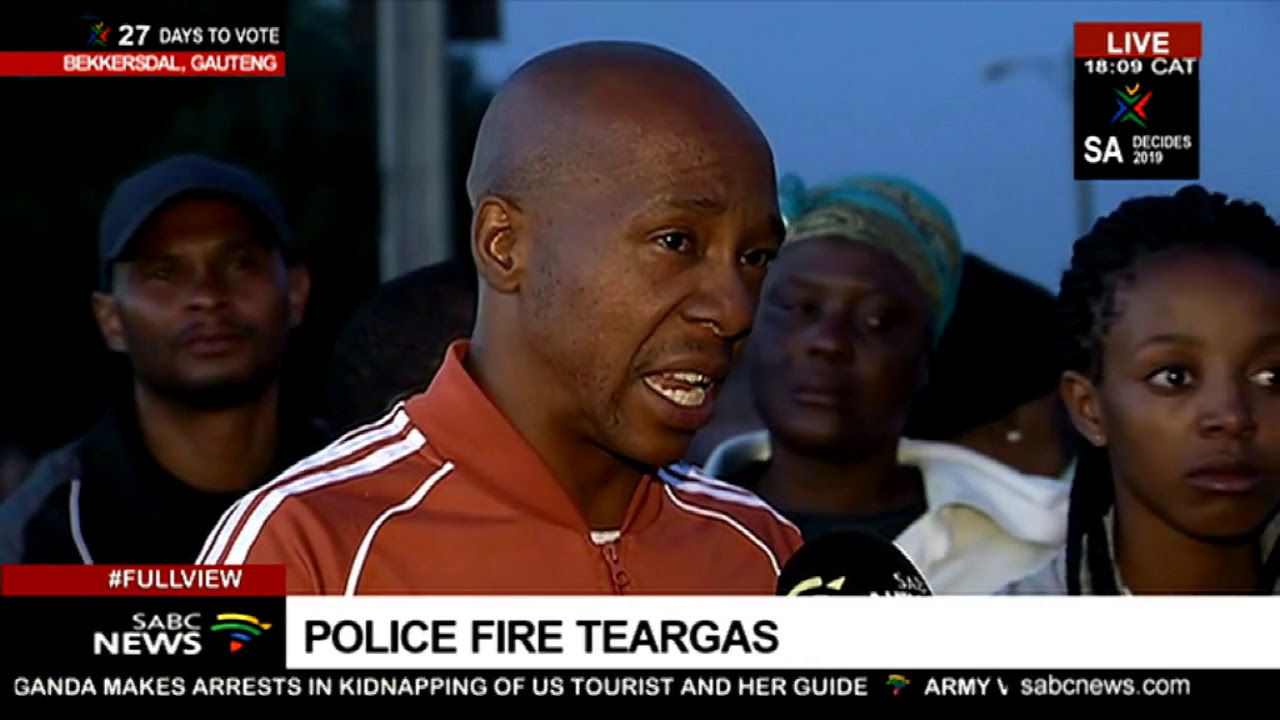 Download Police fire teargas as Bekkersdal protests continue