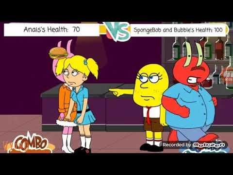 Anais Vs Spongebob And Bubbles (Caillou/SpongebobFTWDefendingAngelsFTL Reuploaded)