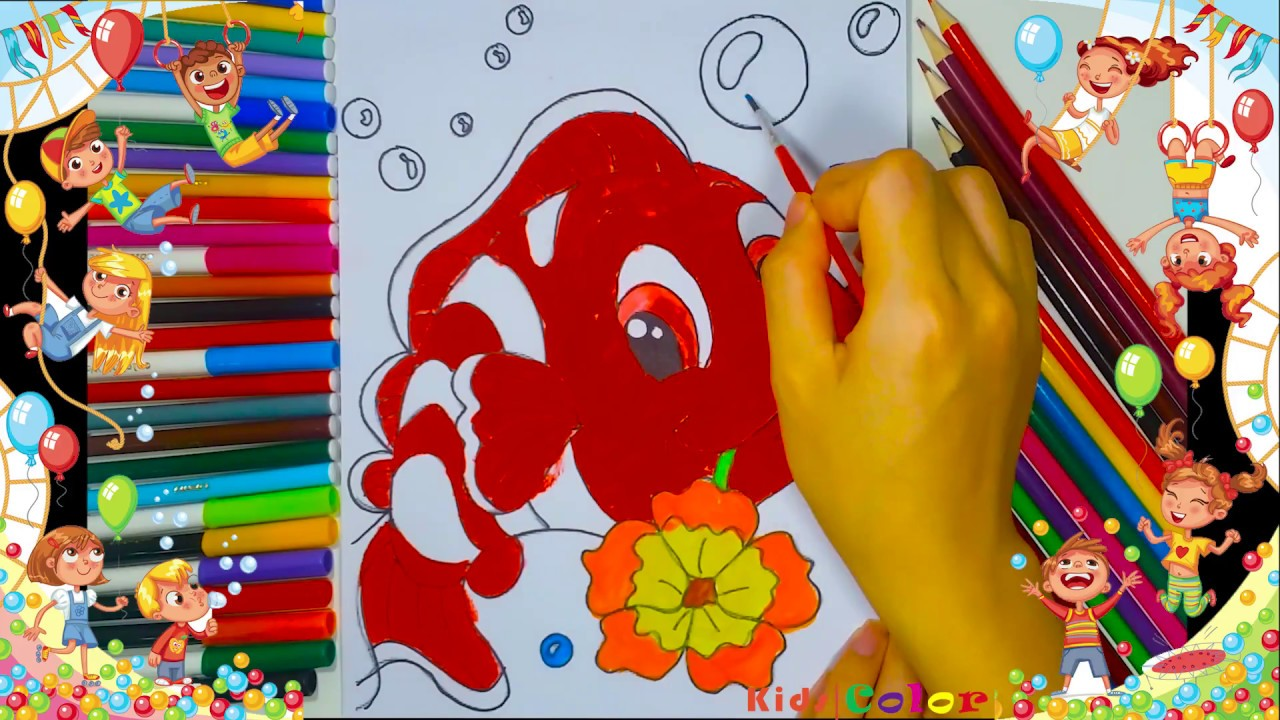Learn Color for kids and Color NEMO FISH Coloring Page - Kids Color ...