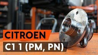 Hoe een achterste wiellager vervangen op een CITROEN C1 (PM, PN) [AUTODOC-TUTORIAL]