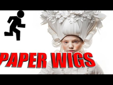 PAPER WIGS FROM ARTIST-SCULPTOR ASYA KOZINA | HOW AND WHY