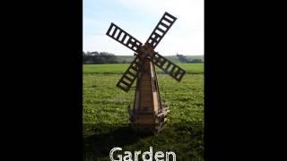 Handmade Wooden Garden Windmill