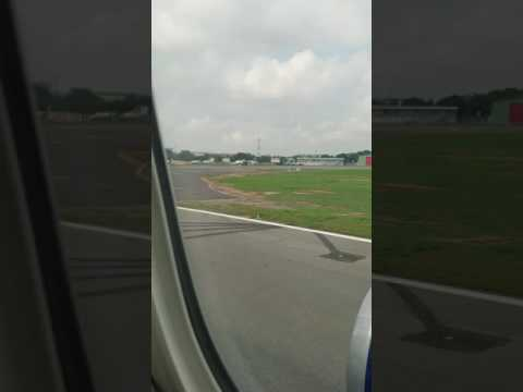 Delta airline lands in Accra,Ghana. spectacular view