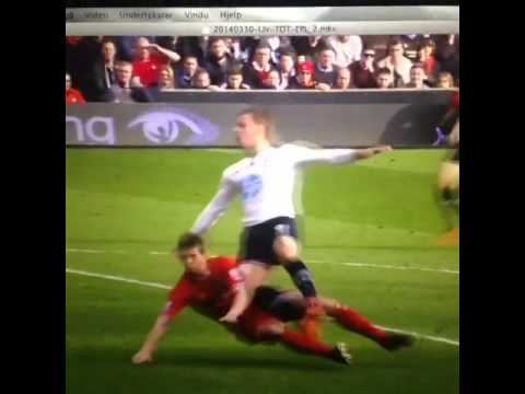 John Flanagan tackle on Soldado. LFC vs Spurs 2014