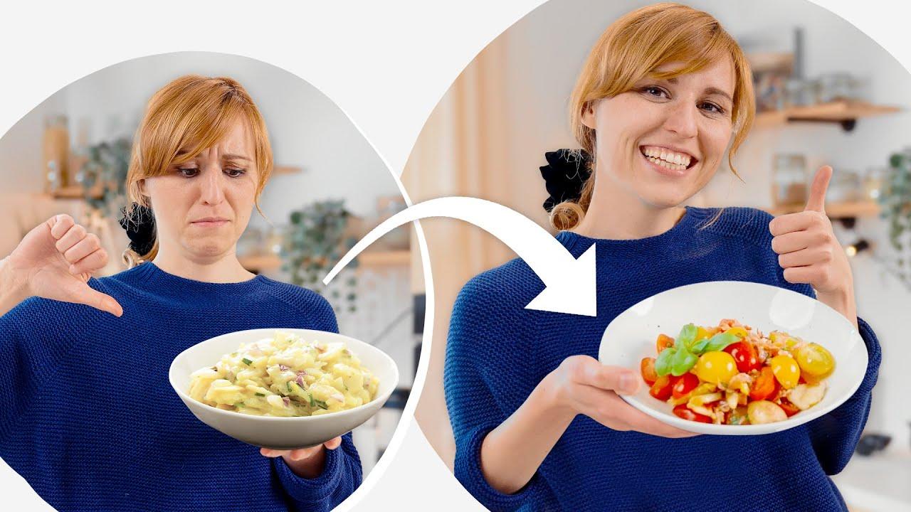 Leichter Salat aus Sommertomaten 🍅 Ruck zuck fertig