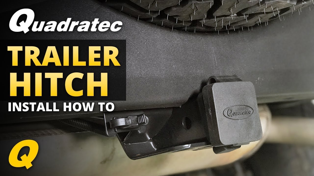 how to install a trailer hitch on your jeep wrangler jk [ 1280 x 720 Pixel ]