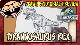 [PREVIEW] How to Draw the TYRANNOSAURUS REX (Jurassic World) | Tutorial Time Lapse