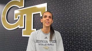 Fighting Peaches: Georgia Tech Michelle Collier interview 9.19.18 #sportsinquirer #georgiatech