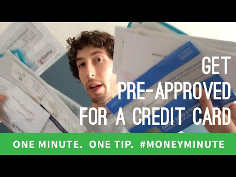 Get Pre-Approved for a Credit Card | #MoneyMinute Tip