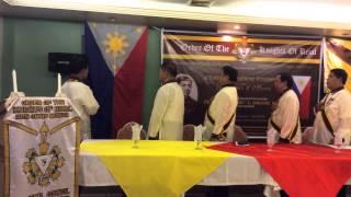 Singing of the. Philippine National Anthem