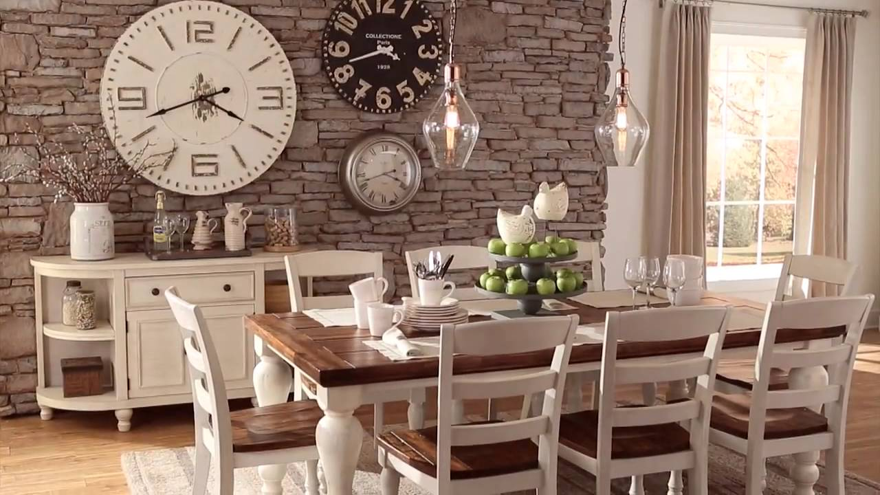 ashley homestore marsilona dining room - youtube