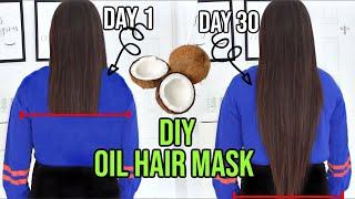 DIY COCONUT OIL Hair Mask tips tricks How To Grow Your Hair Long FAST
