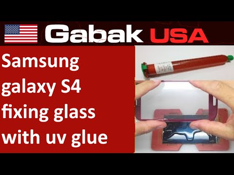 How to change broken glass samsung galaxy s4 with uv glue LOCA